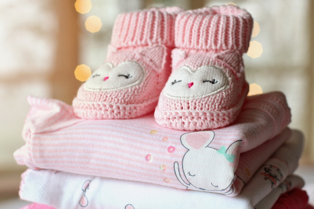baby clothes folded